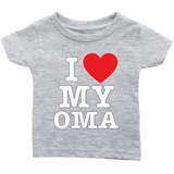 """I Love"" Oma Infant and Toddler T-Shirts"