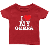 """I Love"" Geepa Infant and Toddler T-Shirts"