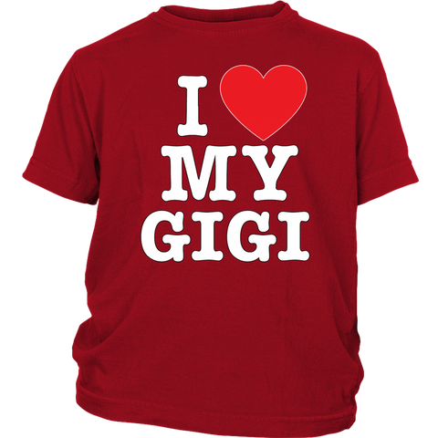 """I Love"" Gigi Youth T-Shirt"