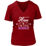 """Say No"" V-Neck Nonna T-Shirt Gift for Nonna"