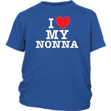 """I Love"" Nonna Youth T-Shirt"
