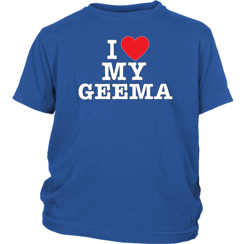 """I Love"" Geema Youth Shirt"