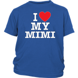 """I Love"" Mimi Youth Shirt Gift for Mimi"