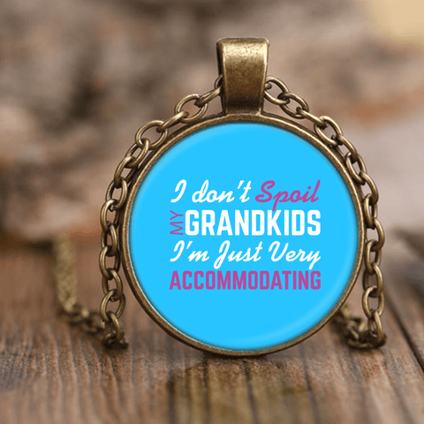 """Spoil Grandkids"" Unique Necklace Gift for Grandmother"