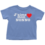 """J'aime mon Nonno"" Infant and Toddler T-Shirts"