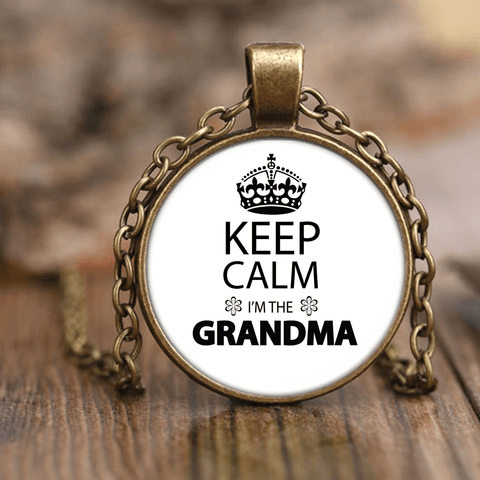 """Keep Calm"" Grandma Unique Necklace"