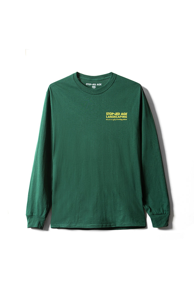 STONED AGE | THE COMPANY Long Sleeve Tee Shirt - Green (front)