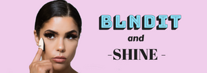BLNDIT makeup finger sponge for the highlighter and concealer. Innovative makeup sponge