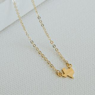 Mini Texas Gold Necklace