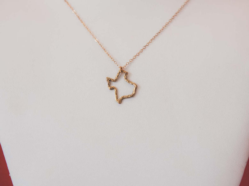 Texas Outline Necklace
