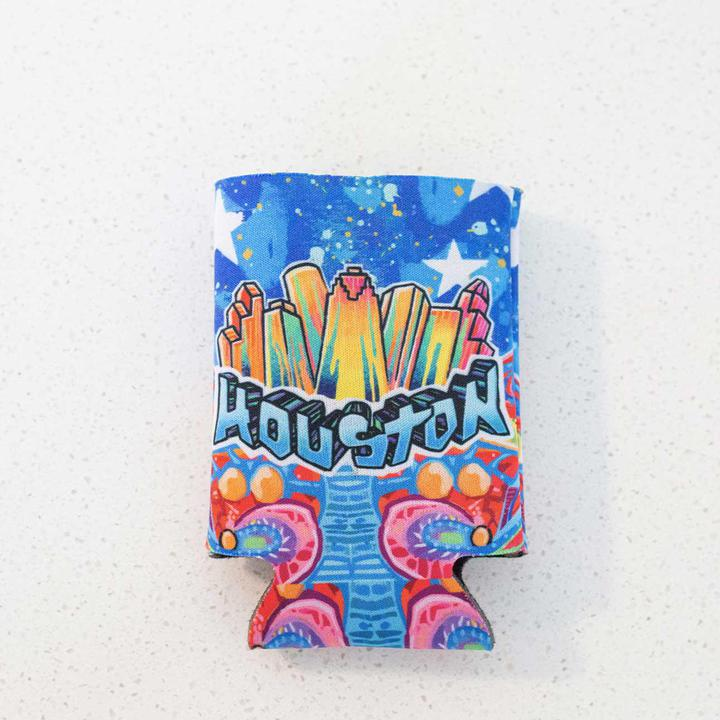 Gonzo Houston Mural Koozie Flat