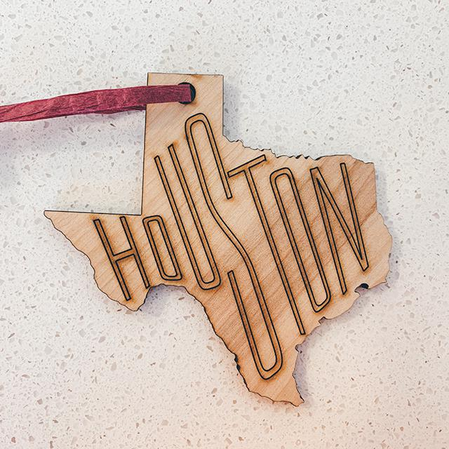 Houston Cutout Ornament