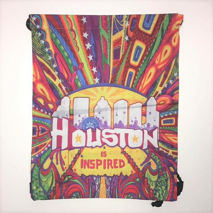 """Houston is Inspired"" Mural Drawstring Backpack"