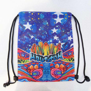 Houston Blue Gonzo Mural Drawstring Backpack