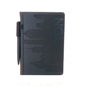 Houston Skyline Embossed Notebook