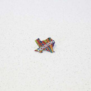 Graffiti Texas Pin