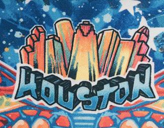 Houston Mural Microfiber Cloth