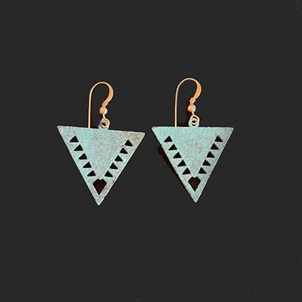 Southwest Triangle Earrings