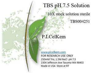 TBS pH 7.5 10X Solution Sterile