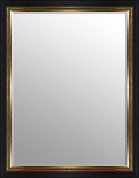 "Vienna Black & Gold Mirror (46"" x 36"") By Spires Studio"