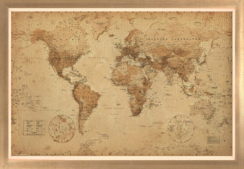 World Map Antique