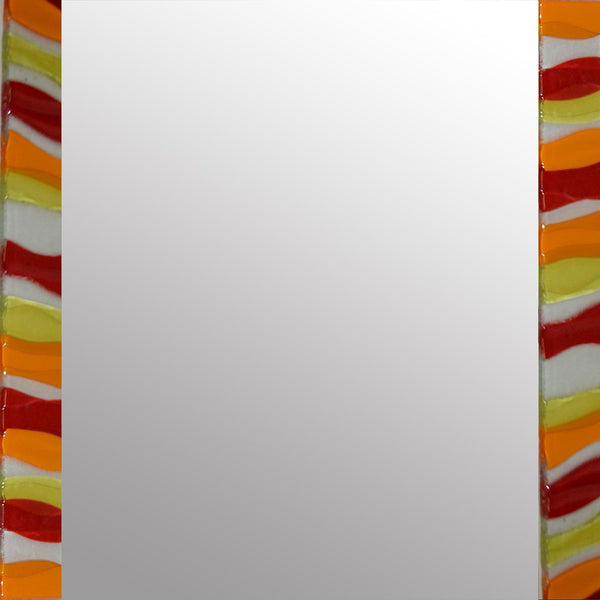 Amber Ripple Square Mirror By Spires Studio