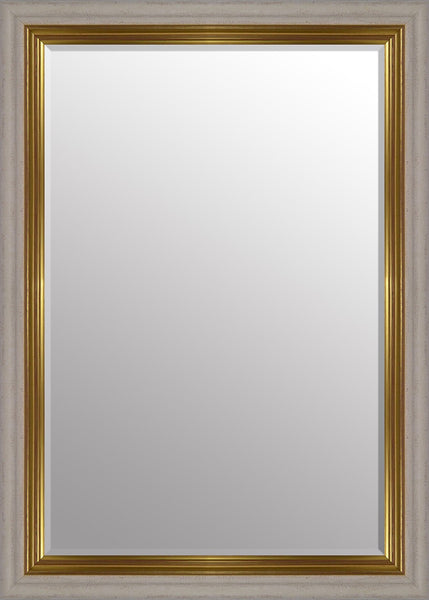 "Vienna Cream & Gold Mirror (42"" x 30"") By Spires Studio"