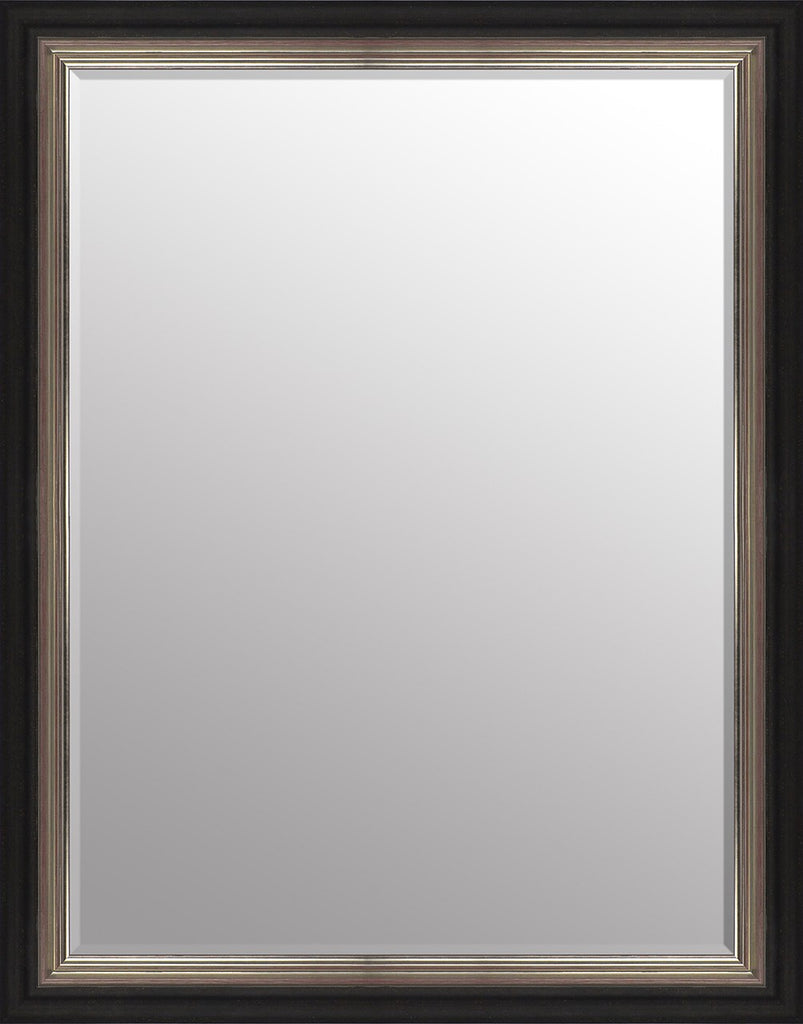 "Vienna Black & Silver Mirror (46"" x 36"") By Spires Studio"