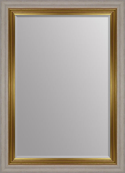 "Vienna Cream & Gold Mirror (36"" x 26"")"