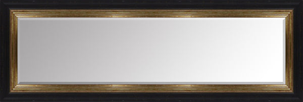 "Vienna Black & Gold Mirror (54"" x 18"") By Spires Studio"
