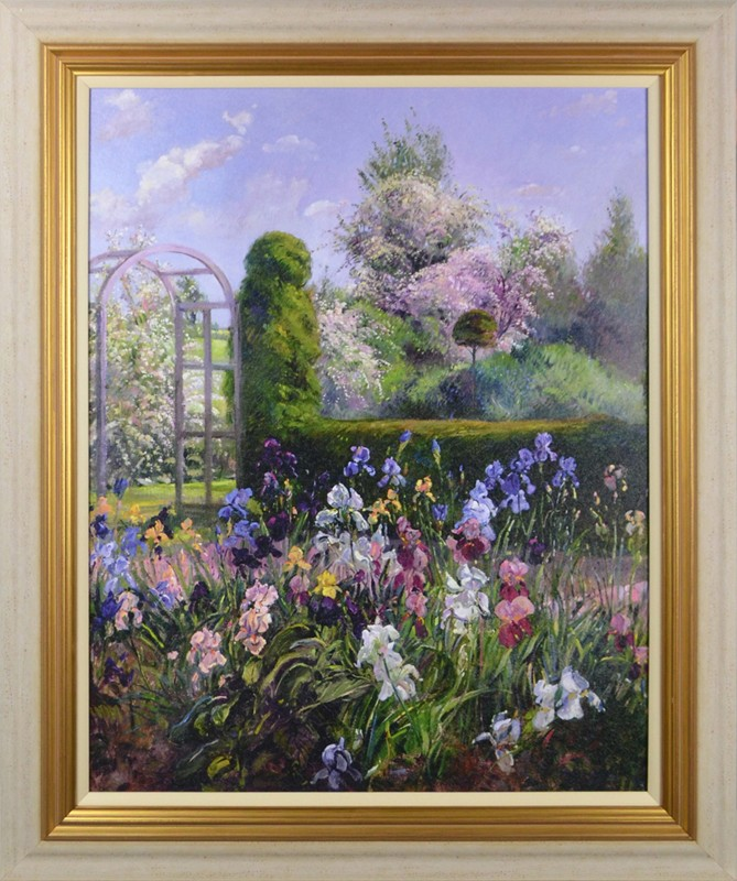 Irises In The Formal Gardens By Timothy Easton