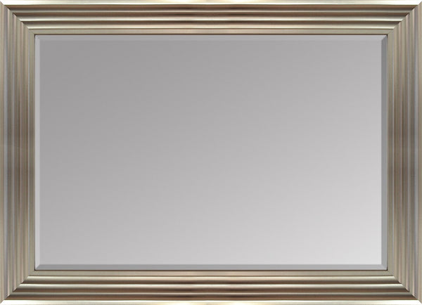 "Hexham Silver Mirror (36"" x 26"") By Spires Studio"