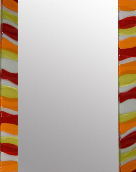 Amber Ripple Rectangle Mirror By Spires Studio