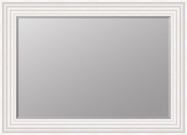 "Hexham White Mirror (36"" x 26"") By Spires Studio"