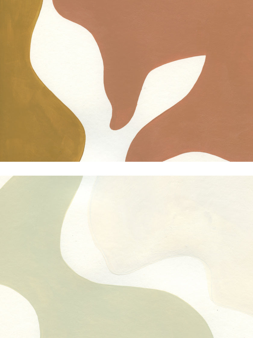 Earthy Shapes - Poster
