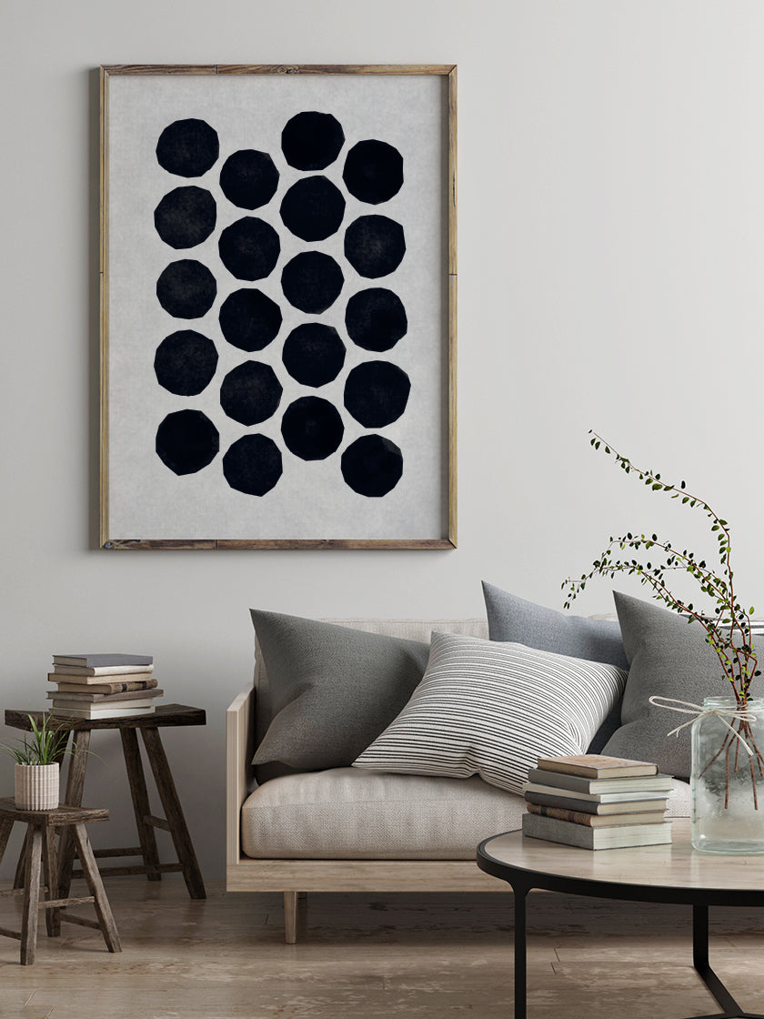 Collective Cutout - Abstract Dots Poster