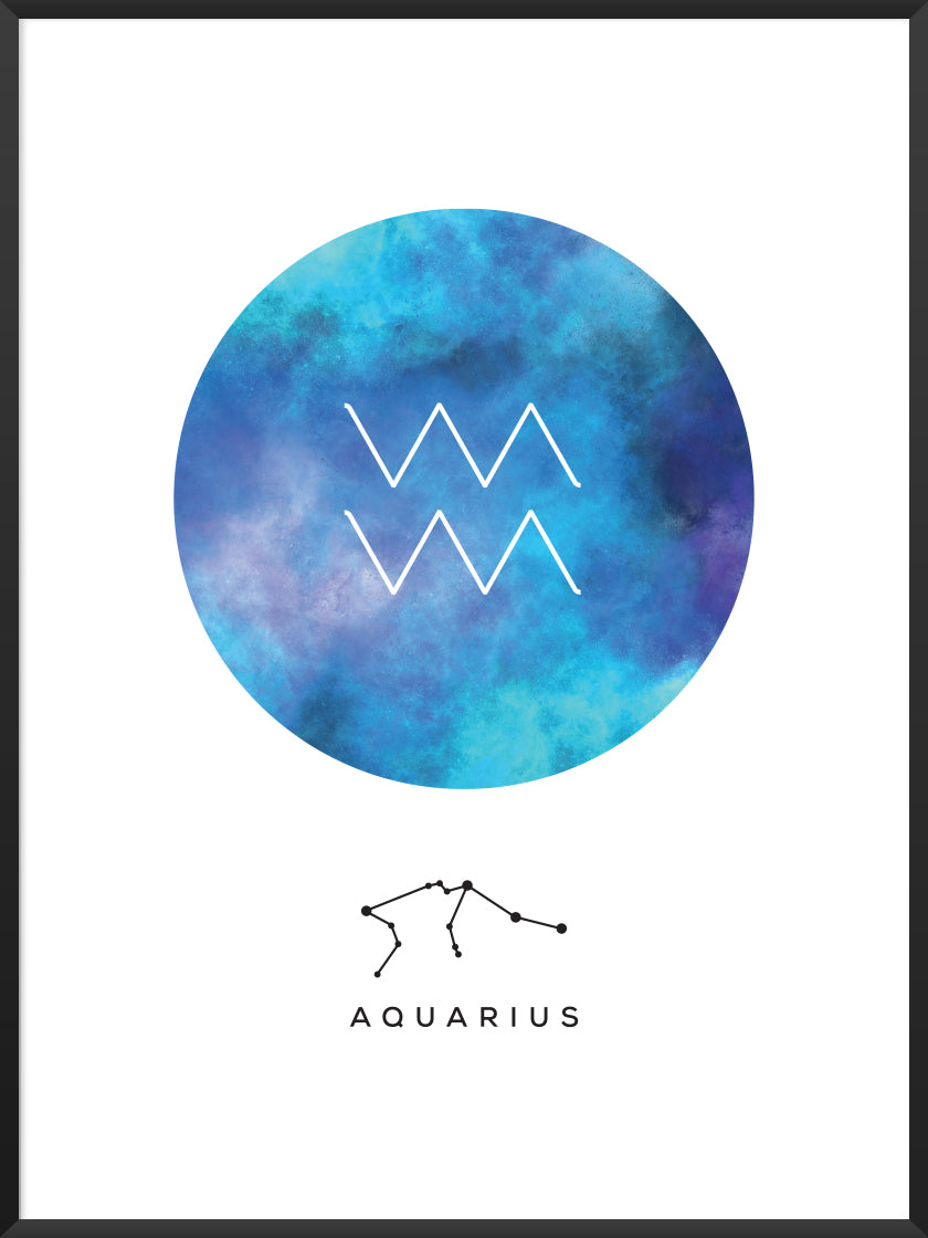 Aquarius - Aquarius Zodiac Sign Poster