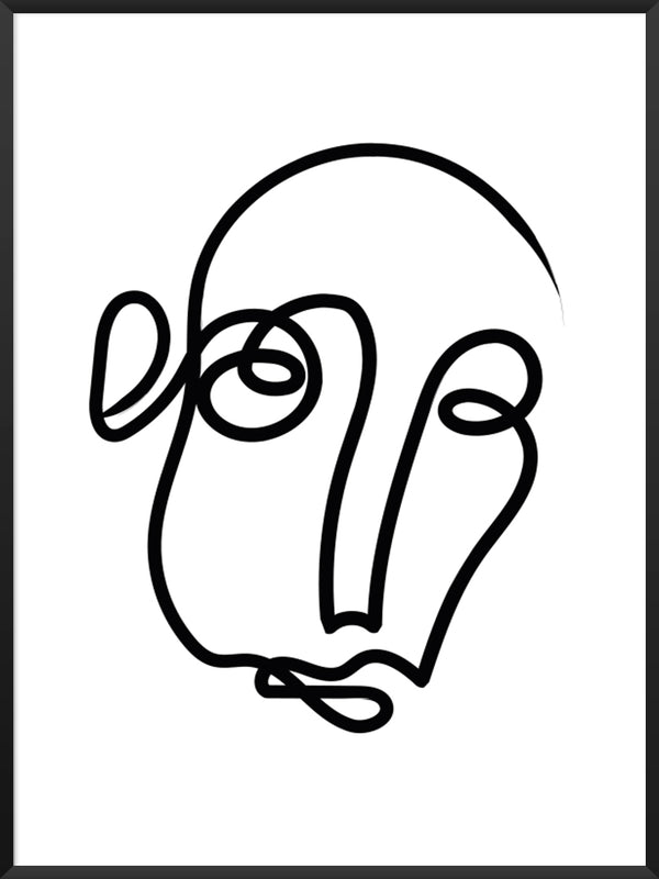 project-nord-one-line-art-face-poster-product-picture