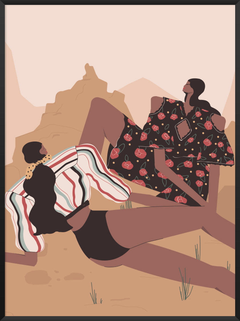 girls,-picnic-in-the-desert-poster-product-picture