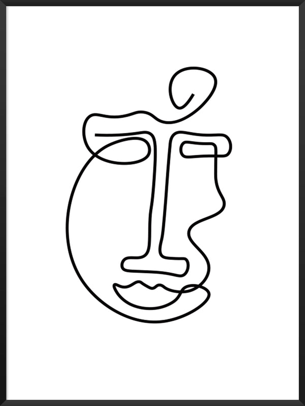 abstract-face-line-art-poster-product-page