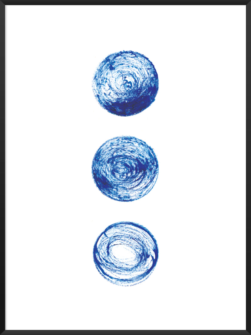 project-nord-les-lunes-bleues-blue-circles-poster