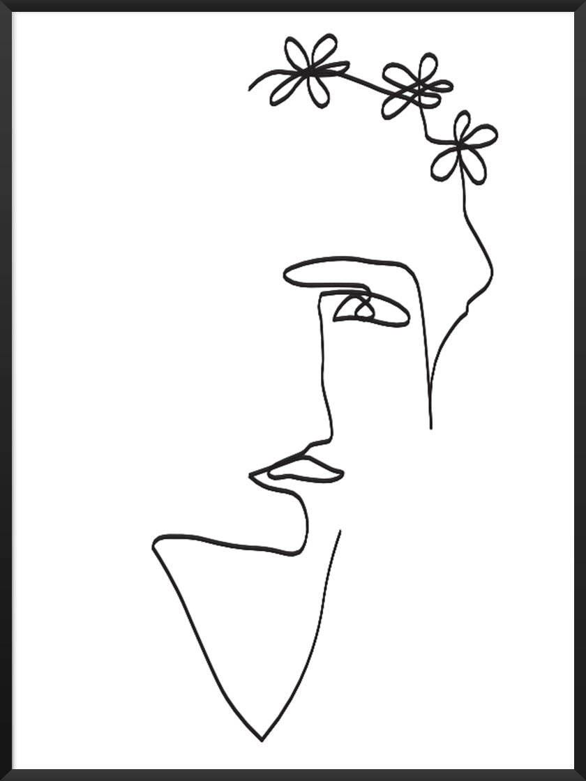 flower-lady-single-line-art-poster-product-picture