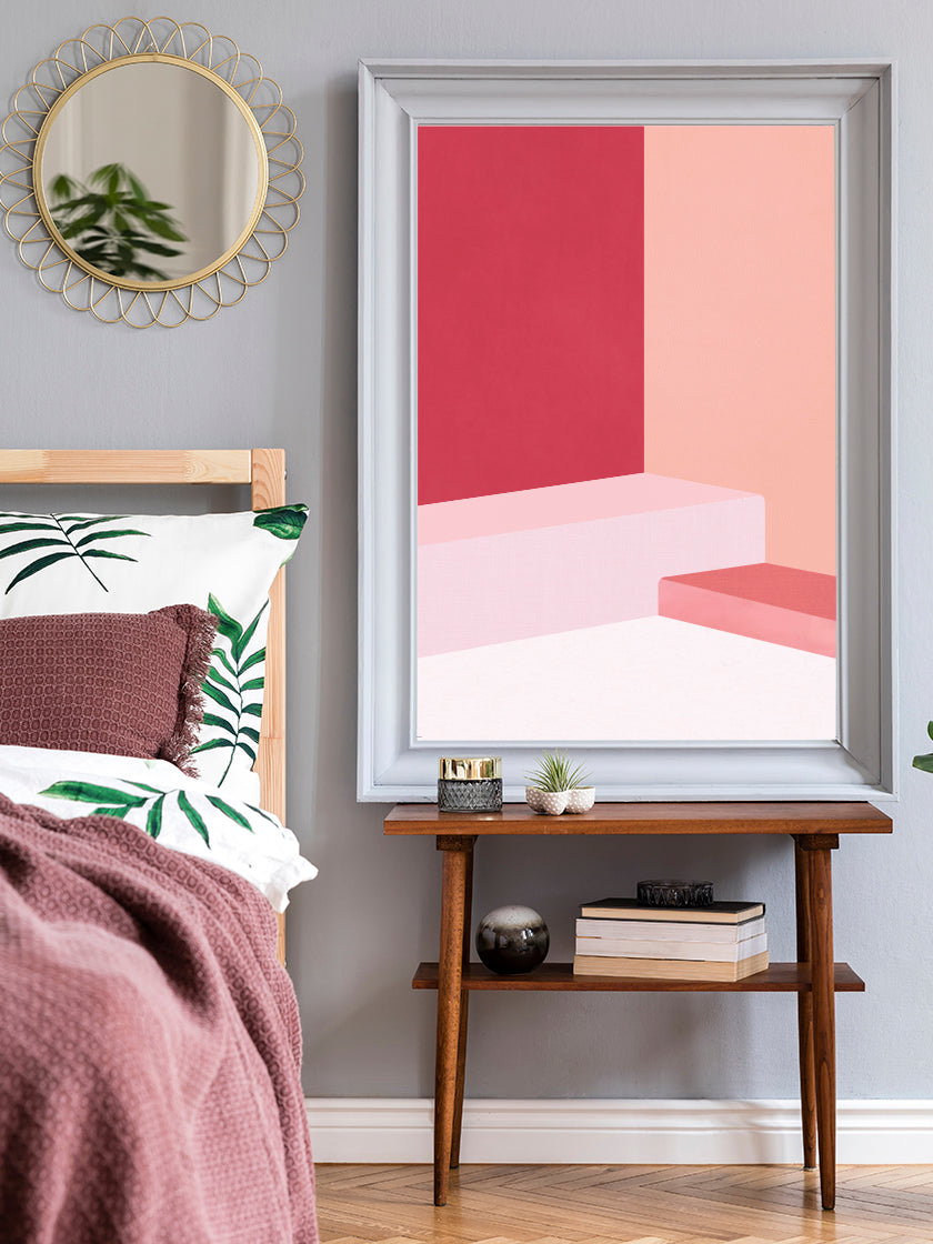 project-nord-the-pink-abstract-poster-in-interior-bedroom