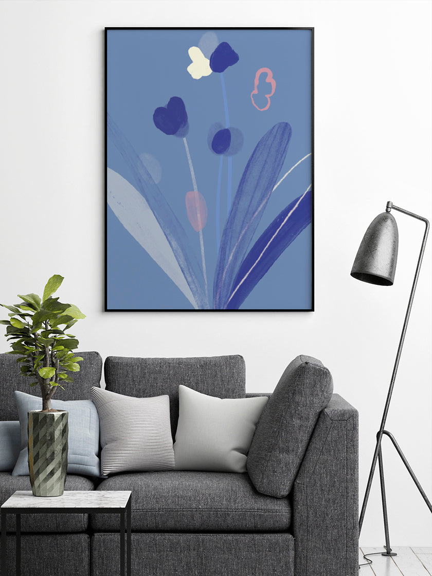 project-nord-blooming-flowers-poster-in-interior-living-room
