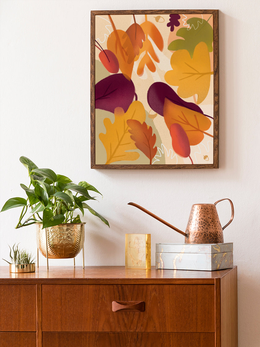 project-nord-autumn-leaf-poster-in-interior