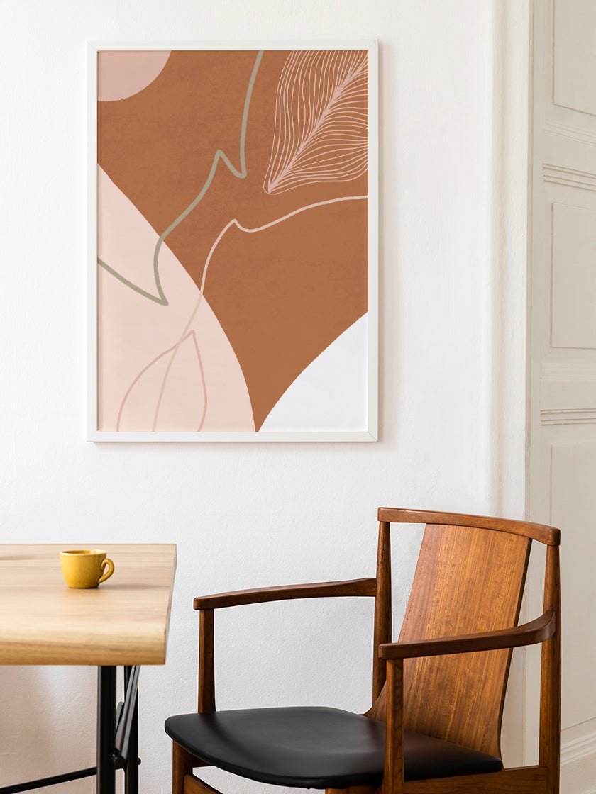 project-nord-autumn-shapes-burnt-orange-abstract-poster-in-dining-room