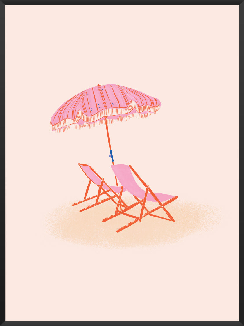 Beach Chairs - Poster