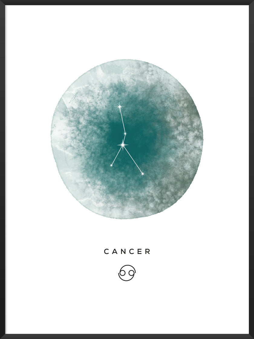 Cancer Watercolour - Cancer Zodiac Sign Poster