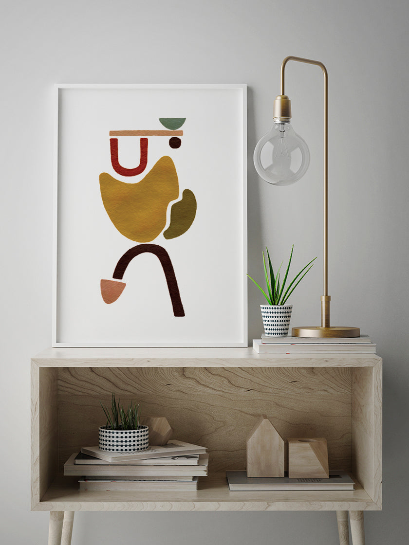 carrying-hand-painted-abstract-poster-in-interior-hallway