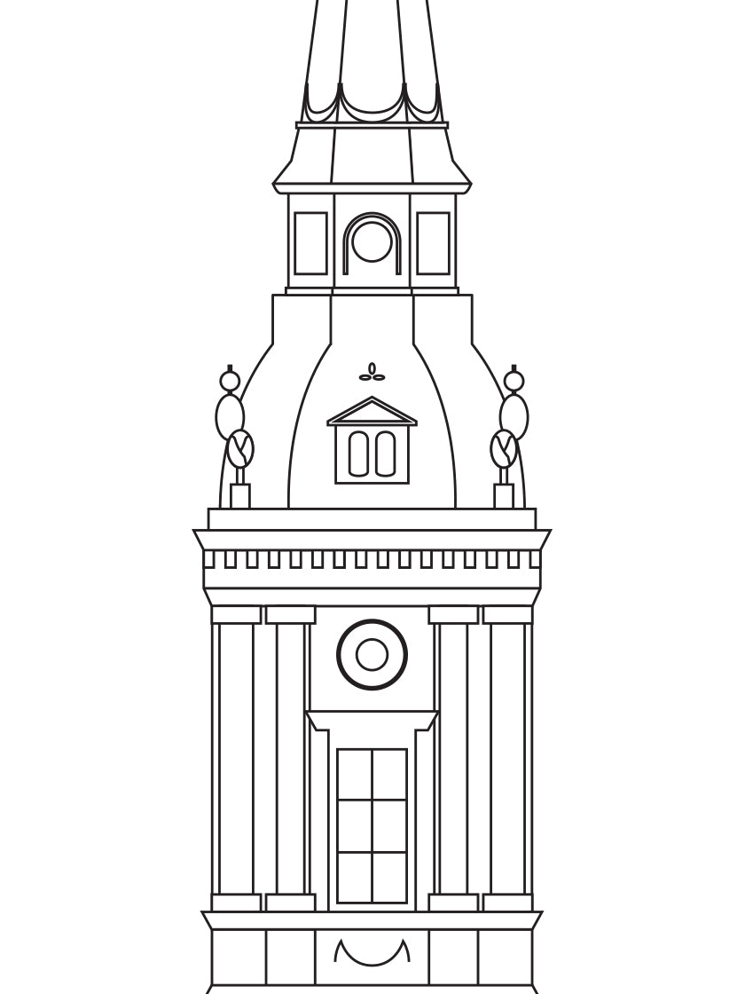 Christians Kirke Outline - Poster